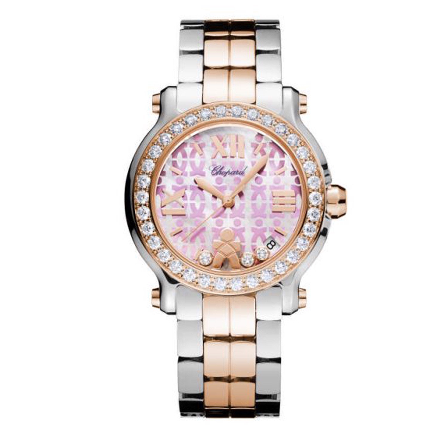 Chopard Happy Sport Education A Child Quartz Diamond Gold - Steel Bracelet 36mm