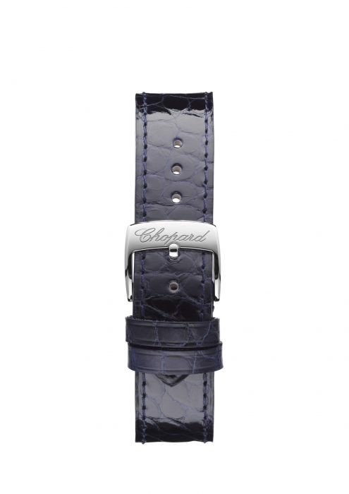 Chopard Happy Sport Automatic Diamond Steel Black Leather Strap Blue dial 36mm