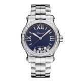 Chopard Happy Sport Automatic Diamond Steel Bracelet Blue Dial 36mm