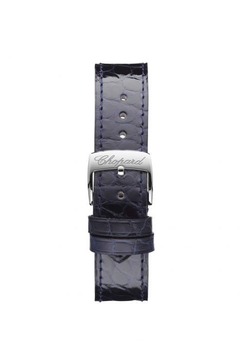 Chopard Happy Sport Automatic Steel Black Leather Strap Blue dial 36mm