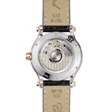 Chopard Happy Sport Automatic Rose Gold Steel Black Leather Strap 36mm