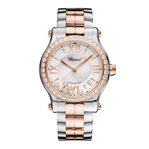 Chopard Happy Sport Automatic Diamond Rose Gold - Steel Bracelet 36mm