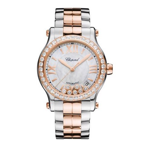 Chopard Happy Sport Automatic Dianmond Rose Gold - Steel Bracelet MOP Dial 36mm