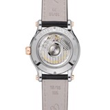 Chopard Happy Sport Automatic Rose Gold Steel Black Leather Strap MOP Dial 36mm