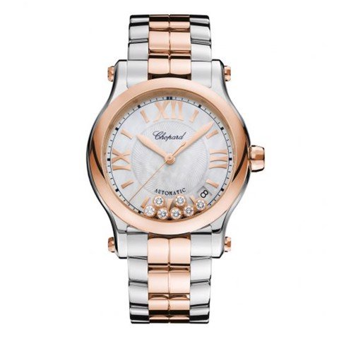 Chopard Happy Sport Automatic Rose Gold - Steel Bracelet MOP Dial 36mm