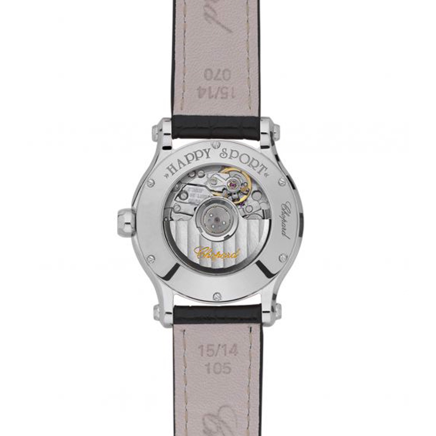 Chopard Happy Sport Automatic Diamond Steel Leather Strap 30mm