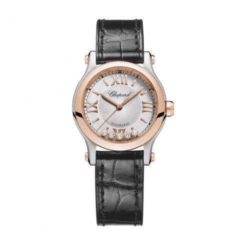Chopard Happy Sport Automatic Rose Gold - Steel Leather Strap 30mm