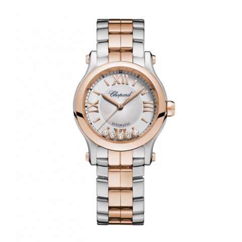 Chopard Happy Sport Automatic Rose Gold - Steel Bracelet 30mm