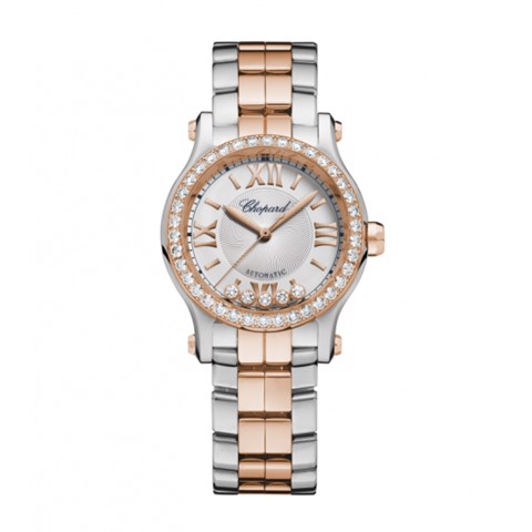 Chopard Happy Sport Automatic Diamond Rose Gold - Steel Bracelet 30mm