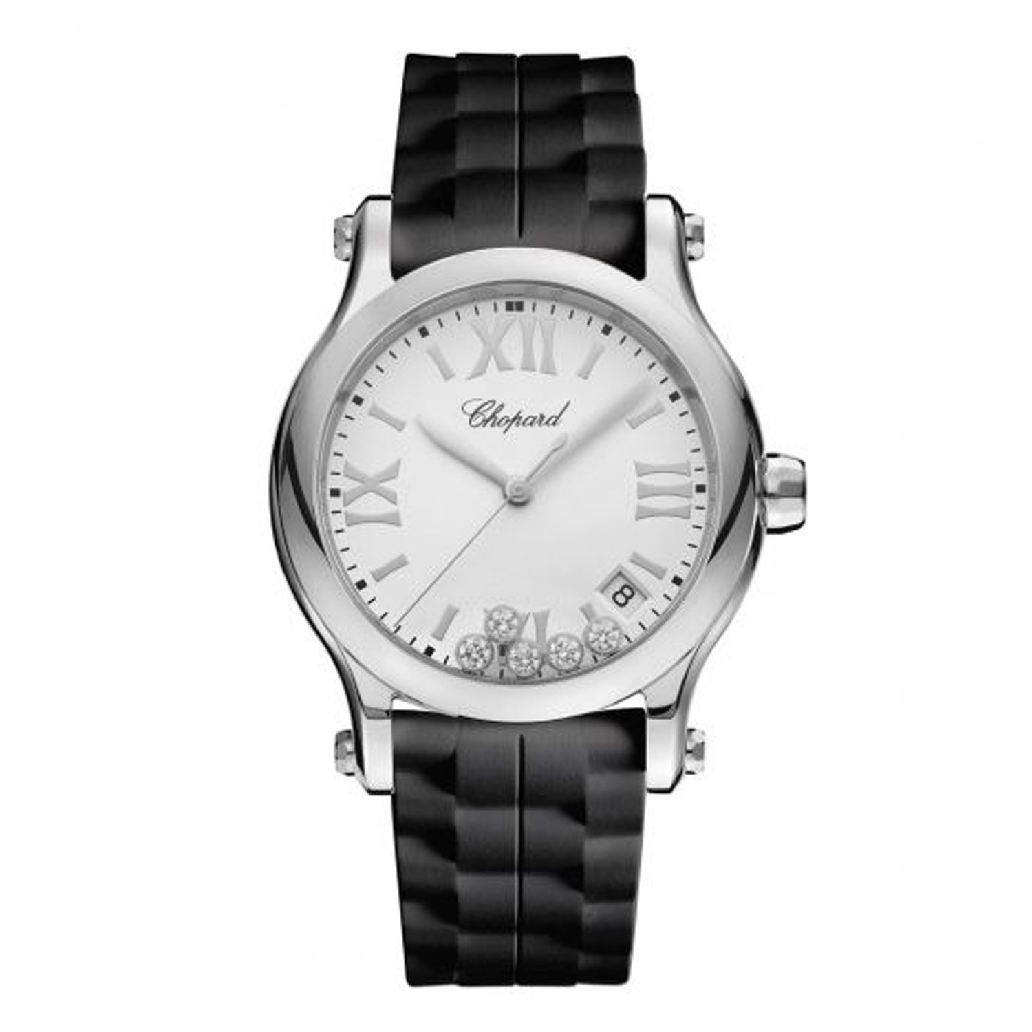 Chopard Happy Sport Quartz Steel Rubber Strap 36mm