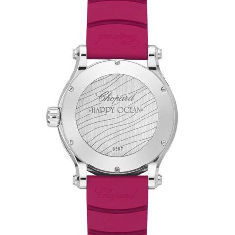 Chopard Happy Ocean Automatic Red Rubber strap 40mm