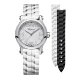 Chopard Happy Sport Quartz Steel Rubber Strap 30mm
