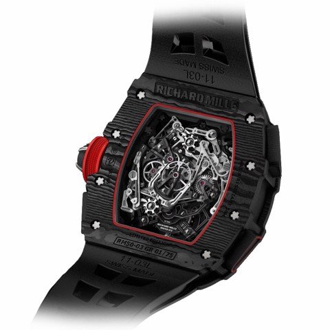 Richard Mille Men Watch RM 50-03 Manual Winding Tourbillon Split-Seconds Chronograph McLaren F1