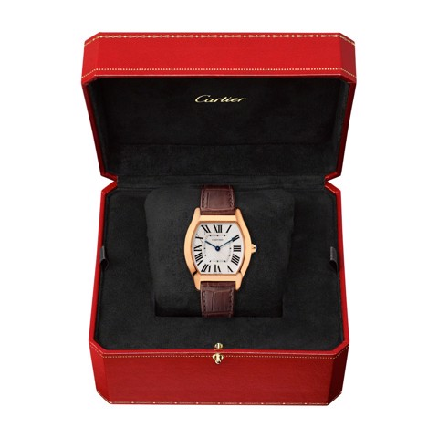 Cartier Tortue Medium Pink Gold Leather