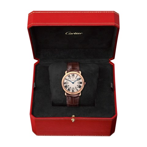 Cartier Ronde Louis Cartier 36mm Pink Gold Leather
