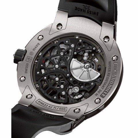 Richard Mille Men Watch RM 033 Automatic Winding Extra Flat