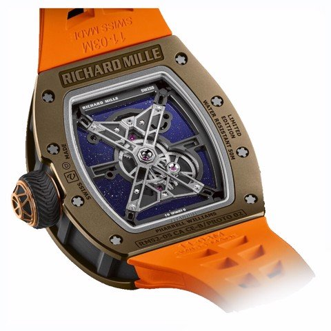 Richard Mille Men Watch RM 52-05 Manual Winding Tourbillon Pharrell Williams