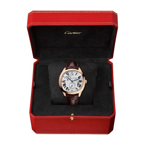 Cartier Drive De Cartier Large Date Retrograde Second Time Zone And Day Night indicator Pink Gold Leather