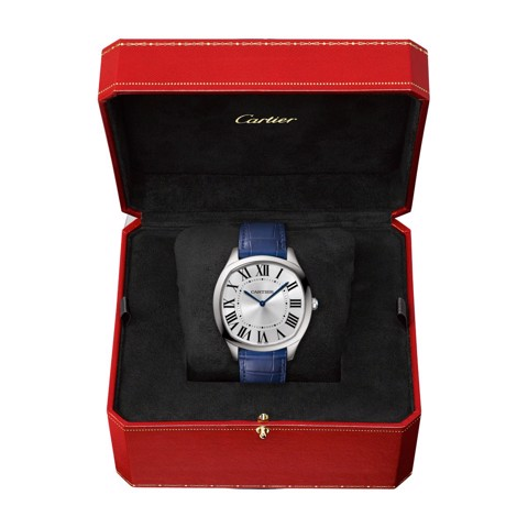 Cartier Drive De Cartier Extra Flat Steel Leather