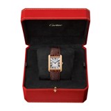 Cartier Tank Solo Large Model Pink Gold Leather