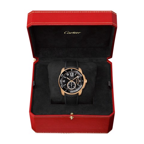 Cartier Calibre De Cartier Diver Pink Gold Rubber