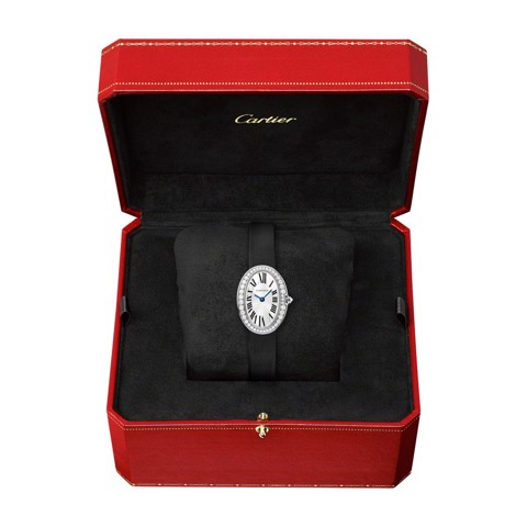 Cartier Baignoire Mini White Gold Diamonds Fabric