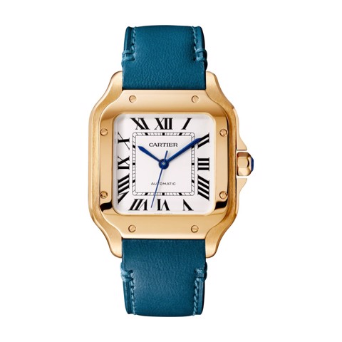 Cartier Santos De Cartier Medium Pink Gold 2 Leather