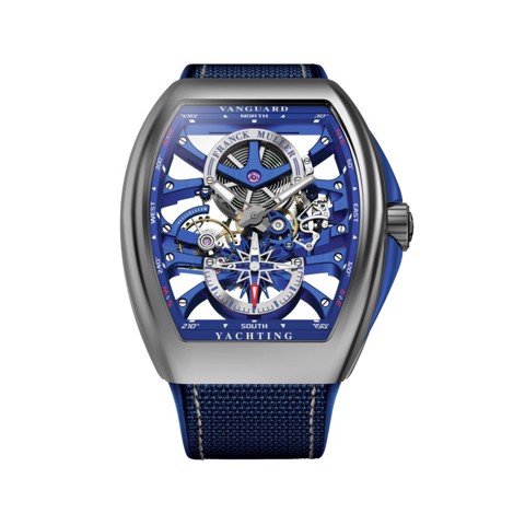 Franck Muller Vanguard Yachting Anchor Skeleton Classic V 45 S6 SQT ANCRE YACHT (BL)