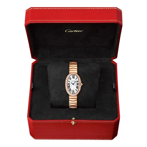Cartier Baignoire Small Pink Gold Diamonds