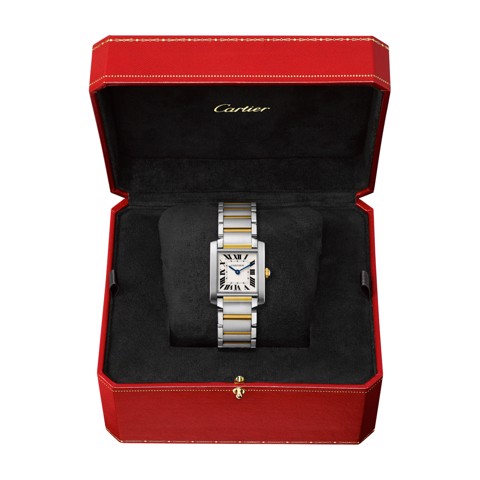 Cartier Tank Francaise Medium Model Yellow Gold Steel