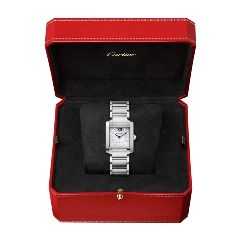 Cartier Tank Francaise Medium Model Steel Diamonds