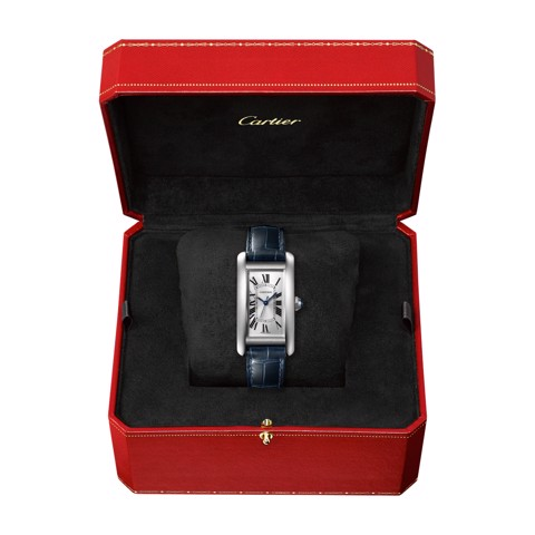 Cartier Tank Américaine Medium Model Steel Leather