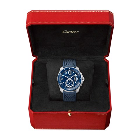 Cartier Calibre De Cartier Diver Blue Steel Rubber