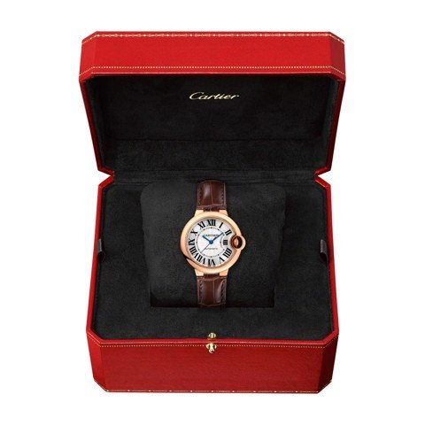 Cartier Ballon Bleu de Cartier 33mm Pink Gold Leather