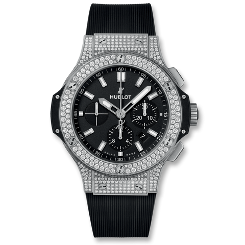 Hublot Big Bang Chronograph Steel Pavé 44mm
