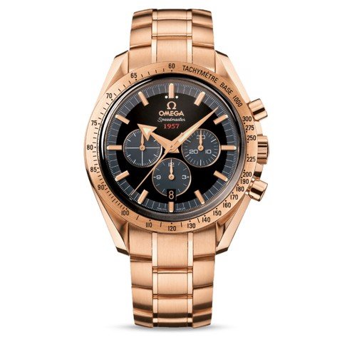 Đồng hồ nam Omega Speedmaster 1957 18k Yellow Gold Broad Arrow 42mm
