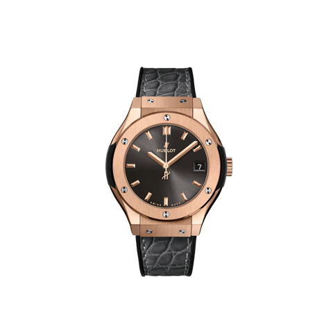 Hublot Classic Fusion Racing Grey King Gold Leather Strap 33 mm