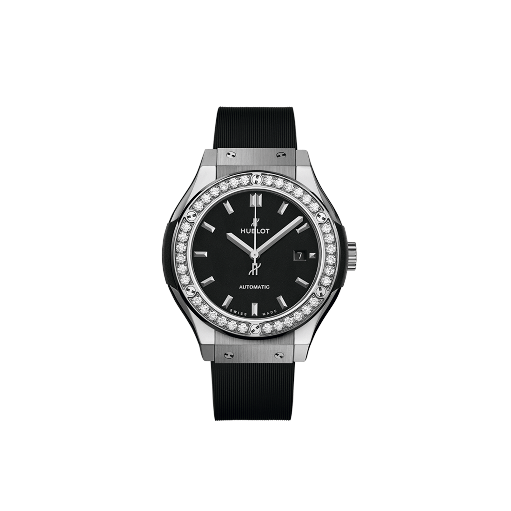 Hublot Classic Fusion Black Titanium Diamonds 33mm