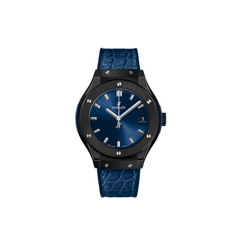 Hublot Classic Fusion Blue Ceramic Leather Strap 33 mm