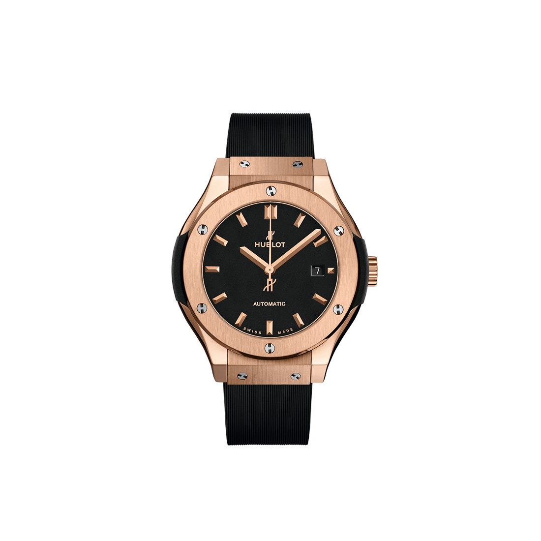 Hublot Classic Fusion Black King Gold Rubber Strap 33 mm