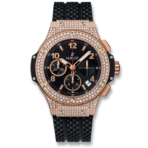 Hublot Big Bang Chronograph Gold Pavé 41mm