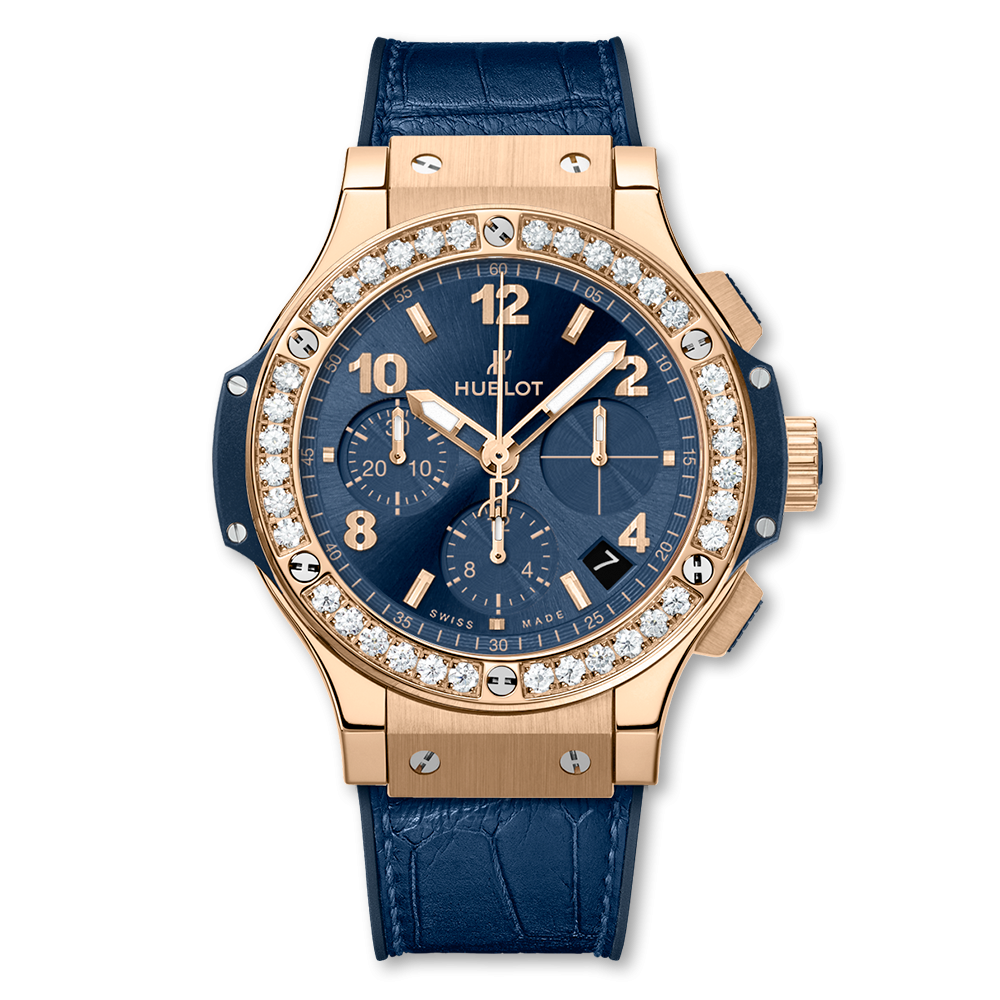 Hublot Big Bang Chronograph Gold Blue Diamonds 41mm