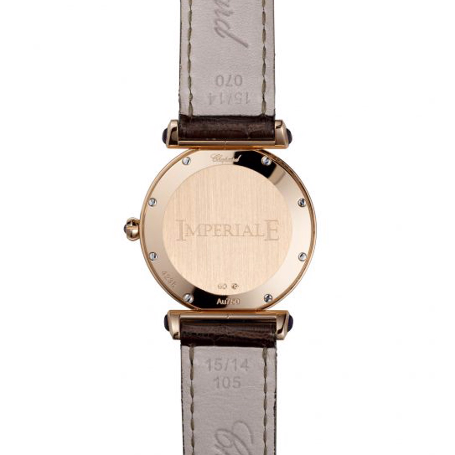 Chopard Imperiale Quartz Rose Gold Black Leather Strap 28mm