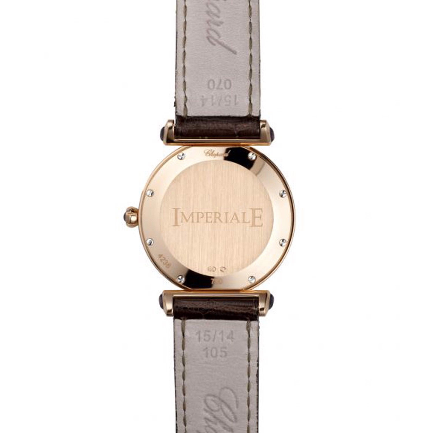 Chopard Imperiale Quartz Full Diamond Rose Gold Black Leather Strap 28mm