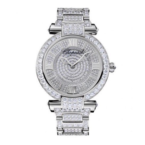 Chopard Imperiale Automatic Full Diamond White Gold Bracelet 40mm