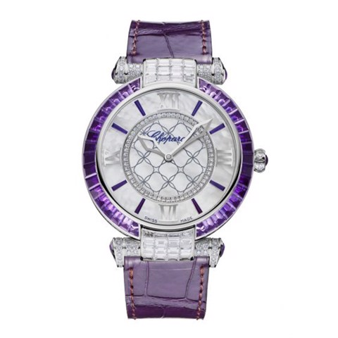 Chopard Imperiale Automatic Amethyst - Diamond White Gold Violet Leather 40mm