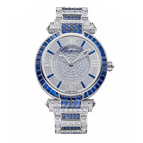 Chopard Imperiale Automatic Full Diamond - Blue Sapphires White Gold Bracelet 40mm