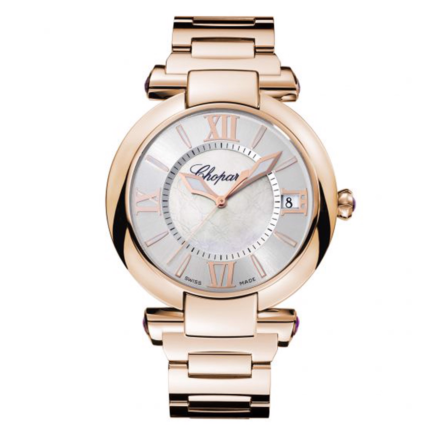 Chopard Imperiale Automatic Rose Gold Bracelet MOP Dial 40mm
