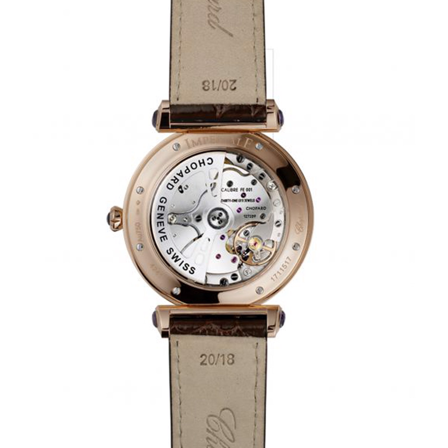 Chopard Imperiale Automatic Rose Gold Brown Leather Strap 40mm