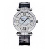 Chopard Imperiale Automatic Diamond White Gold Black Leather Strap 36mm